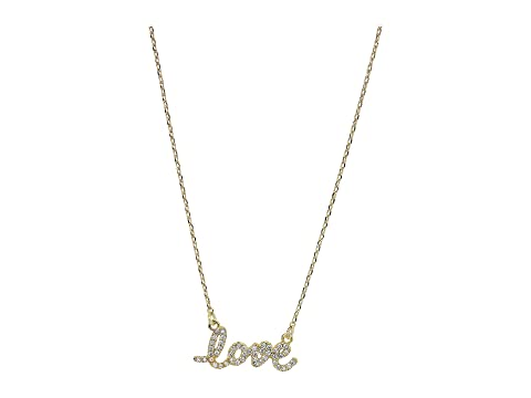 Kate Spade New York Say Yes Love Pave Mini Pendant Necklace
