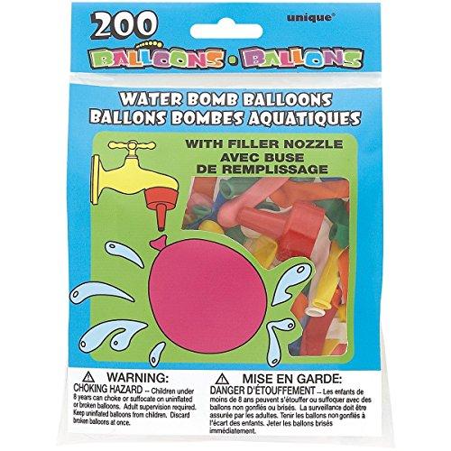 Water Bomb Balloons W/Nozzle 200/Pkg-Multicolor