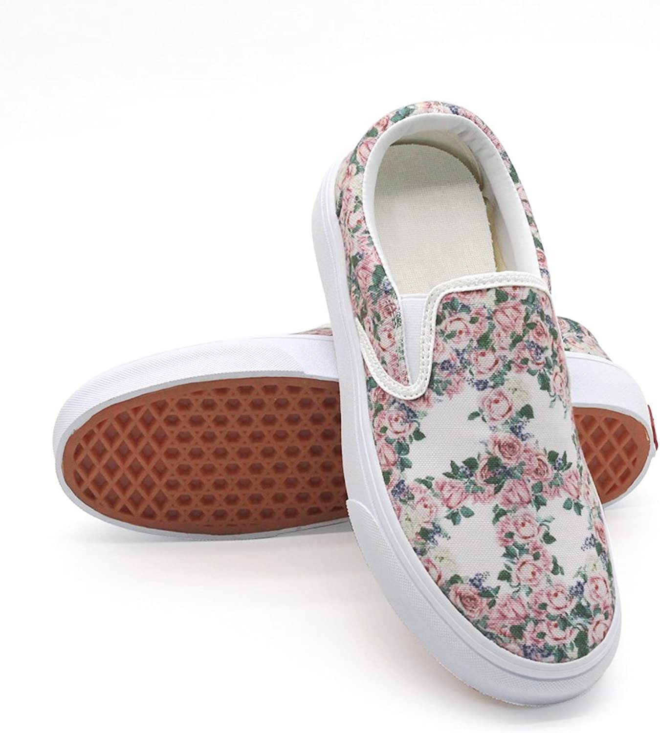 PFL STORE Women's Lightweight Running Race Jogging shoes with Floral Peace Sign