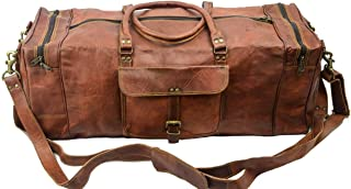 Leather Handmade Oversized Overnight Travel Duffel Luggage Bag Holdalls for Men and Women