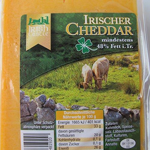Traditioneller Irischer Cheddar Käse 500g. MHD: 17.09.2020