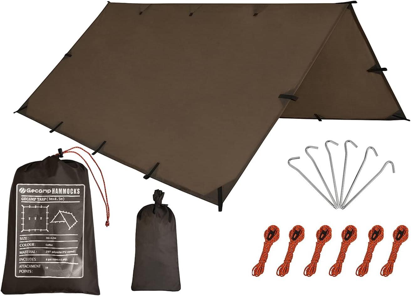 SALENEW very popular! Gecamp Camping Max 66% OFF Tent Tarp Hammock Rain 10X10FT Fly W 10X15FT