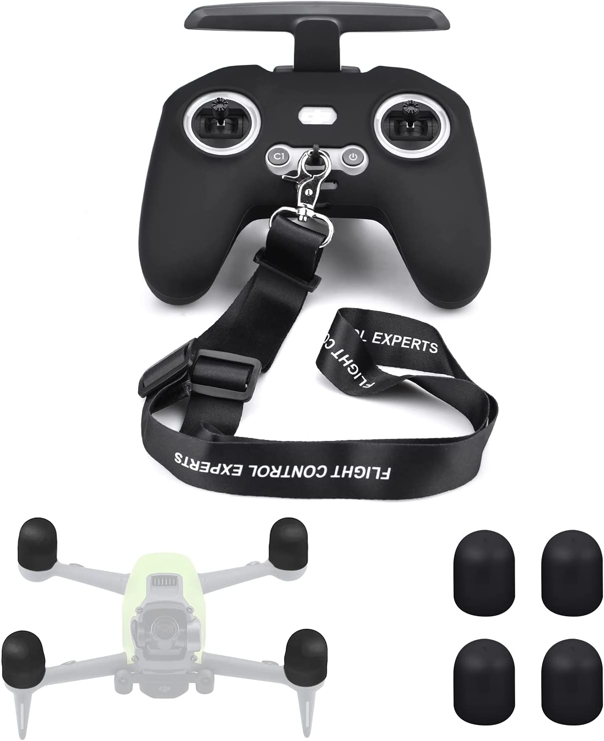 HeiyRC 3 in 1 Remote Controller Fort Worth Mall Rapid rise with Silicone Cover Case Lanyard