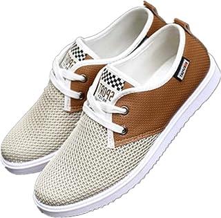 lingogo Fashion casual shoes mesh grid lace up men popular leisure shoes