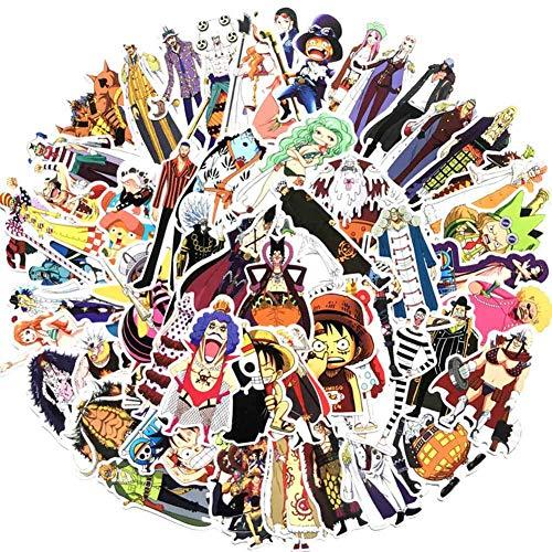 ALTcompluser One Piece Stickers Wasserdicht Aufkleber Vinyl Aufkleber für Laptop, Macbook, Gepäck, Skateboard(125 stk)