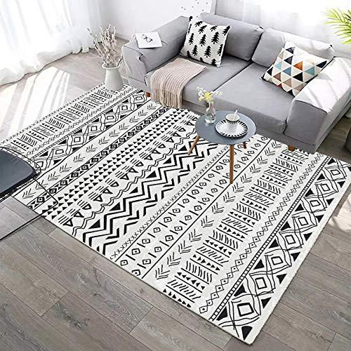 svart vit randig matta ikea