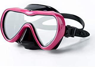 Diving Mask Swimming Goggles with Nose Cover Scuba Snorkel Mask Dry Top Snorkel Set Kids Youth Adult