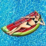 Rexco Jumbo Inflatable Large Watermelon Slice Fruit Island Beach Float Lounger Swimming Pool Jumbo Air Mat...