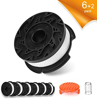 GAVAER Replacement Spool Compatible with AF-100 Black and Decker Weed Eater Spool,Autofeed Replacement Spools,30 Feet of 0.065-Inch Line(6 Replacement Spool,1 Spool Cap,1 Spring)