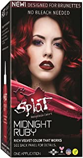 Splat Rebellious Semi Permanent Fantasy Complete Hair Color Kit in Midnight Ruby (pack of 2)