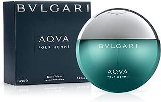 Bvl ga ri Aqva Pour Homme Eau De Toilette Spray for Men 3.4 FL. OZ./100 ml.