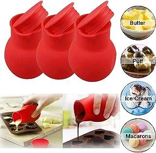 Dr.Icey 3 Piezas Olla de Fusión de Chocolate de Silicona,Silicone Chocolate Melting Pot