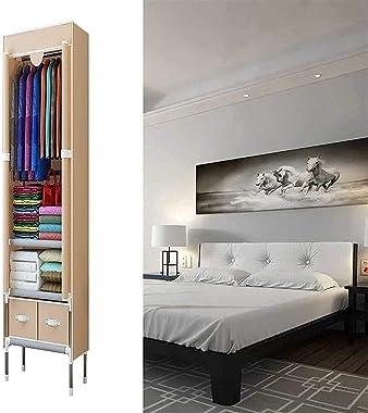 PANGPANGDEDIAN Portable Hanging Closet Wardrobe Bedroom Multipurpose Folding Clothing Storage Cabinet Dustproof Furniture1707