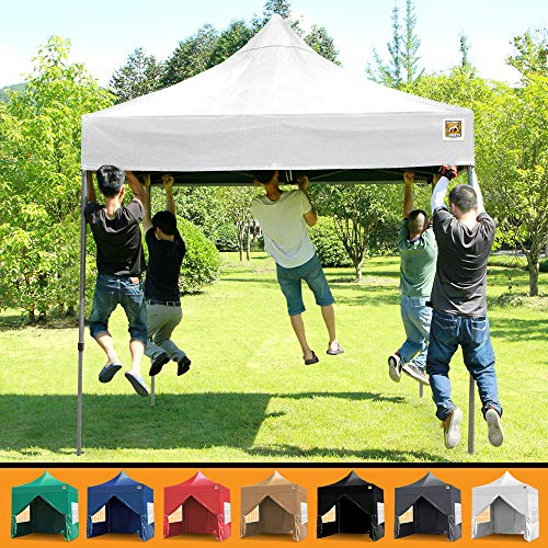 Gorilla Gazebo 2.5x2.5mtr Pop Up Commercial Grade Gazebo with Four Side Panels and Wheeled Carrybag (White)