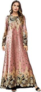 فستان نسائي طويل بتصميم إسلامي من وسط الشرق الأوسط بتصميم رداء للسيدات