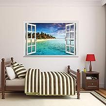 Ventanas Estereoscópicas Simuladas 3D,adhesivos PVC Muebles Decoración Dormitorio Sala Paredes Calcomanías,4 Piezas
