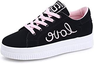 Base Canvas Shoes lace Platform Shoes Women's Casual Increase in Sneakers