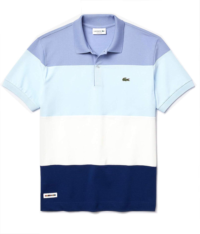 Lacoste Men's Short Sleeve Classic Fit Color Block Polo Shirt