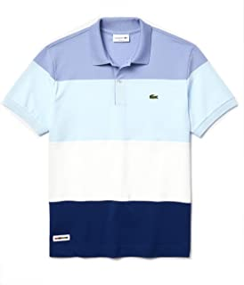 Men's Short Sleeve Classic Fit Color Block Polo Shirt