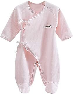 Happy Cherry Newborn Baby Cotton Thin Layette Footie Romper 0-6 Months