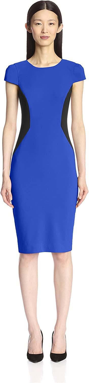 Discount is also underway trust SOCIETY NEW YORK Women's Sleeve Cap Dress Colorblocked