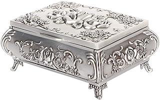 SONGYU Récipient à Bijoux, boîte à Bijoux, Alliage de Zinc Beaux Bracelets Colliers pour Boucles d'oreilles Anneaux (96.54)