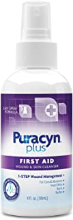 Best Puracyn Plus Wound and Skin Cleanser – Wound Care Spray for cuts, scrapes, minor sores, minor burns, and other skin irritations – 4-ounce Review