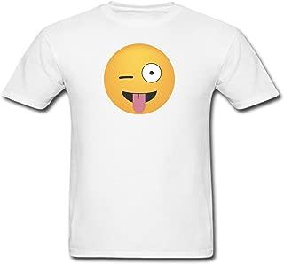 Crazy Face Emoji Adult T-Shirt