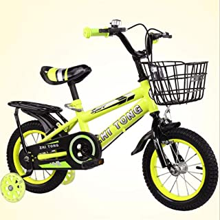 TWTD-TYK Kid's Bike,Children's Bike, Kids Bike,Toddler Training Bike,Steel Children Training Bicycle,with Water Bottle and Hand Brakes for 2-9 Years Old