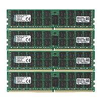 キングストン Kingston サーバー用 メモリ DDR4-2133(PC4-17000) 16GB×4枚 ECC Registered DIMM KVR21R15D4K4/64 永久保証