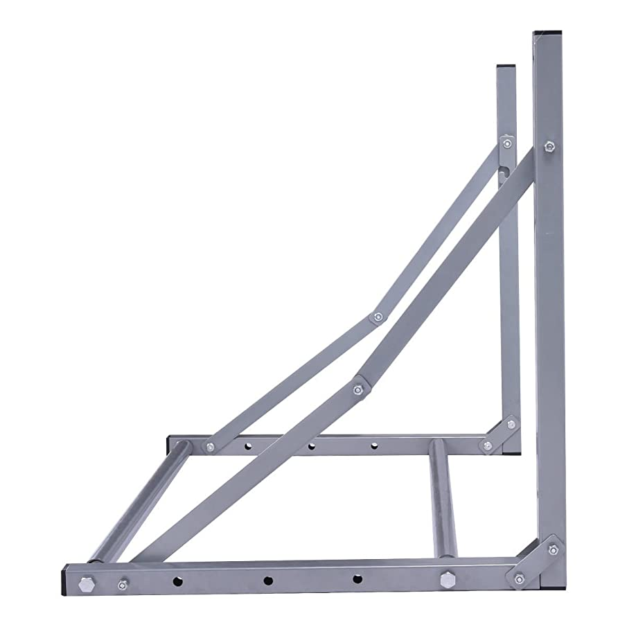 KCHEX>>Folding Tire Wheel Rack Storage Holder Heavy Duty Garage Wall Mount Steel 300Lb>> It is Made Entirely of Durable Steel tubing and Holds up to 300 pounds, which Will be Durable and Sturdy
