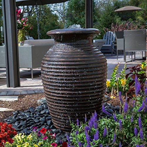 Aquascape Rippled Urn Landscape Fountain Kit with Aquabasin and Ultra Pump, Medium | 78271