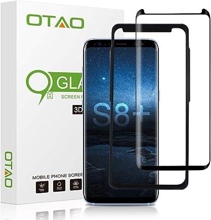 534b3490a7e OTAO Galaxy S8 Plus Tempered Glass Screen Protector, [Case Friendly][Easy  Installation