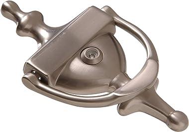 Hillman Hardware Essentials 852725 Satin Nickel Door Knocker with Viewer, 7-Inch