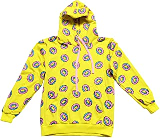 Kpop GOT7 Mark Yellow Jump Hoodie Cute Donut Pattern Sweatershirts