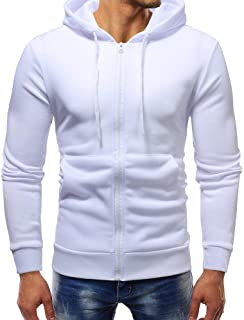 GOVOW Sweatshirts for Men Zipper Hoodie Autumn Winter Long Sleeve Casual Pullover Outwear Tops