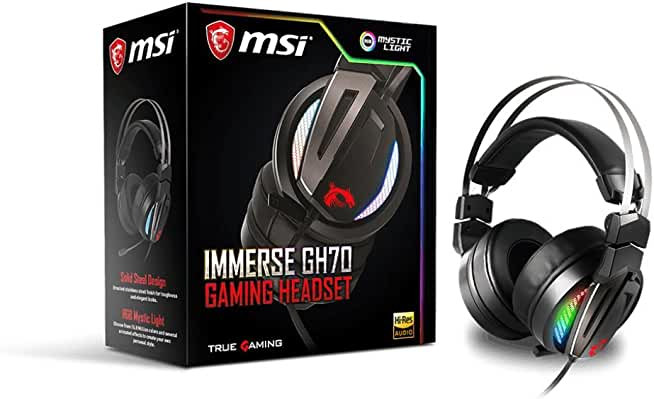 MSI IMMERSE GH70 Over-Ear Wired Gaming Headset