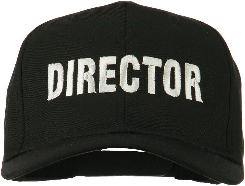 e4Hats.com Director Embroidered Cotton Twill Cap