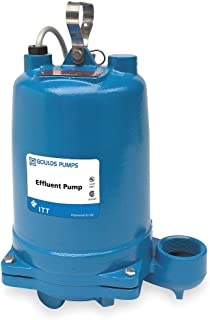 Submersible Effluent Pump, 1/3hp, 10.7A