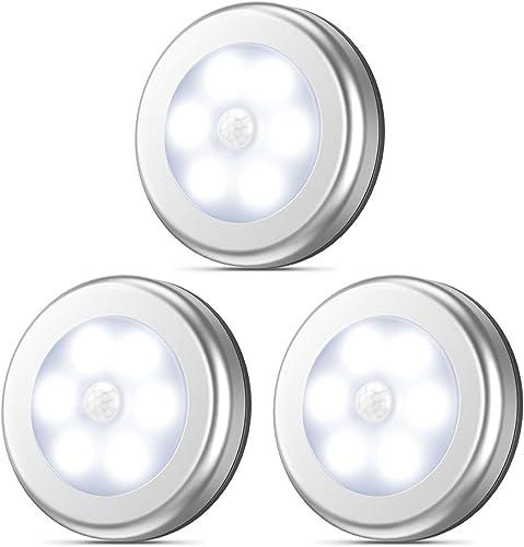 AMIR Motion Sensor Light, Stick-Anywhere Cordless Battery-Powered LED Night Light, Closet Lights,Stair Lights, Safe L...
