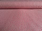 Oshkosh Denimstoff, Jeansstoff Rot mit weißen Streifen als