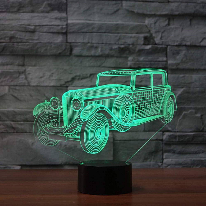 Zonxn 3D Nightlight 7 colors Atmosphere Led Vintage Car Shape Table Lamp Kids Gifts USB Wecker Lampara Baby Sleep Lighting Home Decor