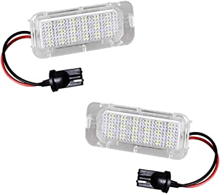 MOFORKIT LED License Plate Light White Compatible with 2011 to 2018 Ford Explorer/Fiesta, 2013 to 2018 Ford Fusion/Escape, 2015 to 2018 Lincoln MKC