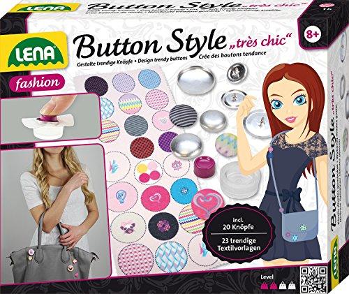 Lena 42595 - Button Style très chic, Bastelset inklusive 20 Knöpfe