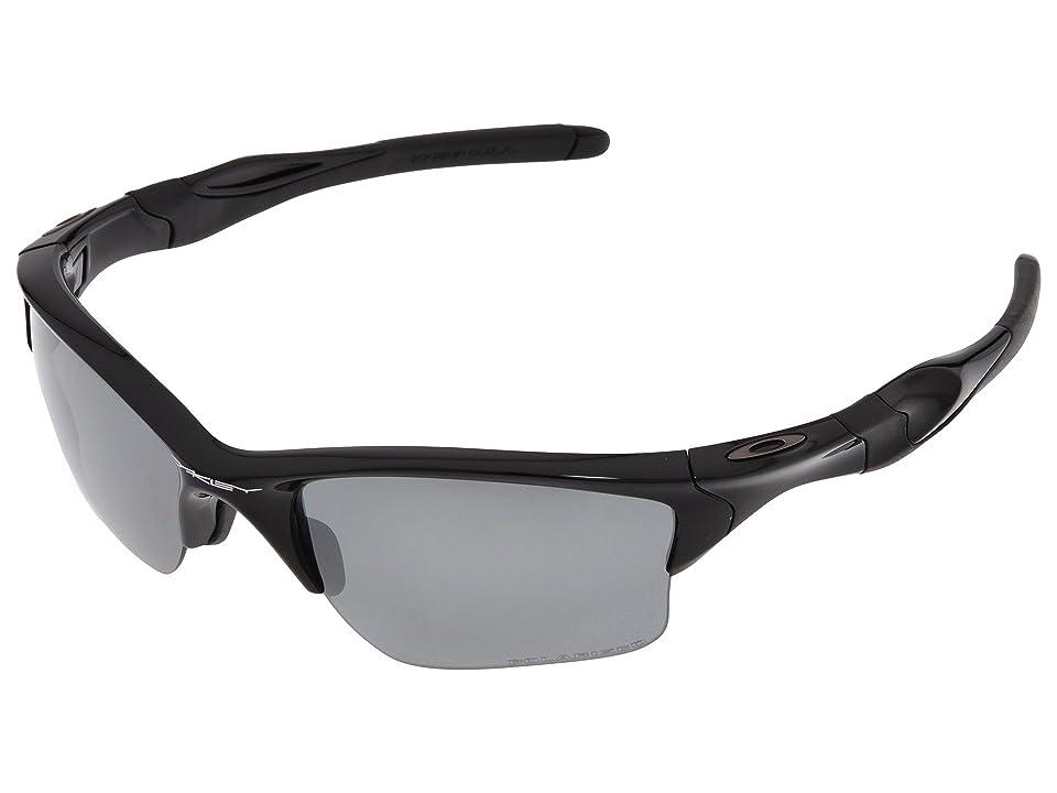 Oakley Half Jacket 2.0 XL Polarized (Polished Black w/Black Iridium Polarized) Sport Sunglasses