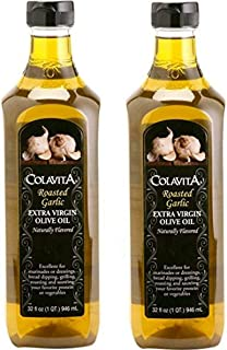 Colavita Roasted Garlic Extra Virgin Olive Oil Naturally Flavored 32 fl oz. 1QT 964 mL زيت الزيتون البكر الممتاز بالثوم المحمص