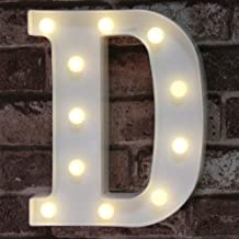 Pooqla LED Marquee Letter Lights Sign, Light Up Alphabet Letters for Wedding Birthday Party Christmas Home Bar Decoration