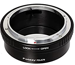 Fotasy Canon FD Lens to Sony FE Mount Adapter, FD to FE Mount, E Mount Lens Adapter to FD, fits Sony a7 II a7 III a7R a7R ...