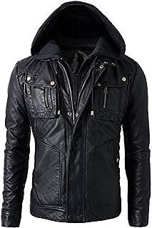 Military Grade Men's Motorcycle Brando Style Biker Real Leather Hoodie Jacket - Detachable Hood