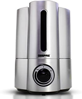 Geepas 32W Humidifier | Double Nozzle, 16 Hours of Continuous Mist | 4L Capacity & Ultrasonic Humidifier | Waterless Auto ...